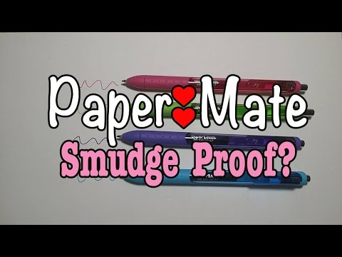 Paper Mate Gel Pens Ink Joy: Smudge Proof? | Arrem