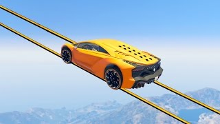 IMPOSSIBLE SKY TIGHTROPE RACE! (GTA 5 Funny Moments)