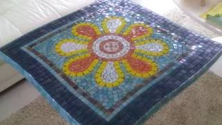 PART 1: DIY Mosaic Garden Table - Design & Glue Tiles