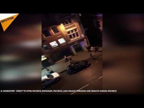 Les premières images de l'attentat de Londres