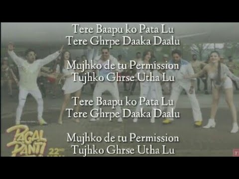 Thumka Lyrics – Pagalpanti | YO YO Honey Singh