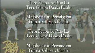 Thumka Lyrics – Pagalpanti   YO YO Honey Singh