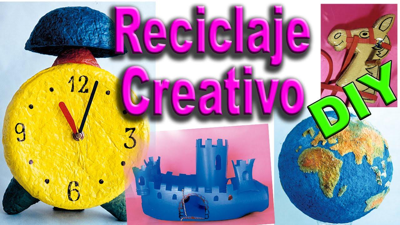 Ejemplos De Reciclaje Creativo Manualidades Con Material Reciclado