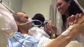 Ради танца со своим умерающим отцом,невеста перенесли свадьбу в больничную палату