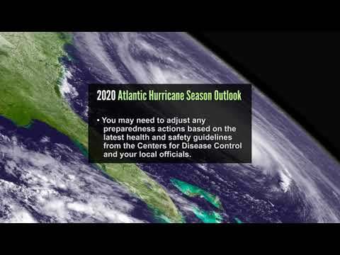 NOAA's Climate Prediction Center is predicting a 60 percent chance that the 2020 Atlantic hurricane season will be above normal.