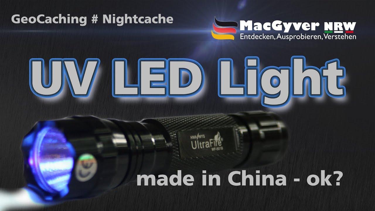 geocaching nightcache uv led lampe aus china okay youtube. Black Bedroom Furniture Sets. Home Design Ideas