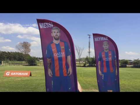 Pleny estuvo presente en el Campus del FC Barcelona