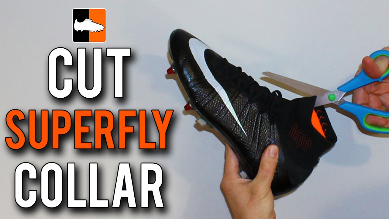 f3d2b58580c3a How to Cut the Collar on Nike CR7 Mercurial Superfly Football Boots ...