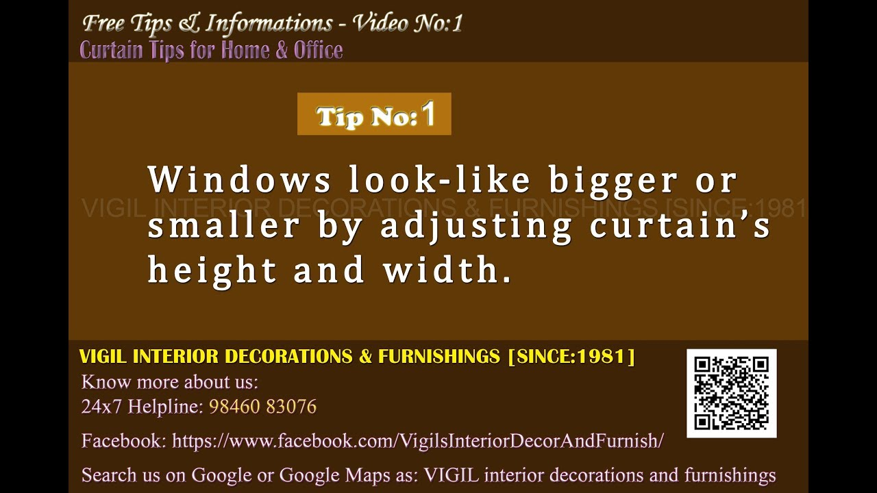 Curtain Tips For Home and Office-VIGIL INTERIOR DECORATION ...