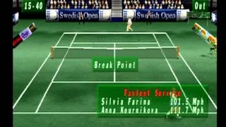 Actua Tennis gameplay (PS1)