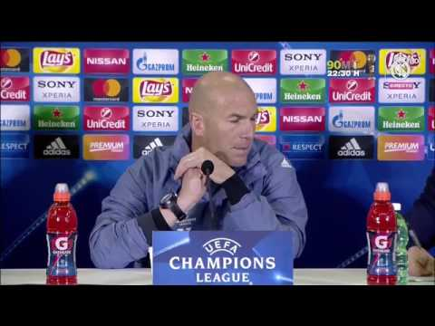 Zinedine Zidane's pre-match press conference