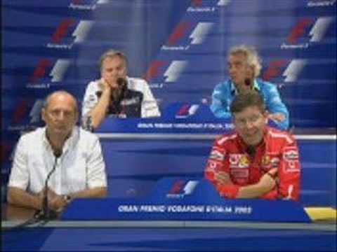 Ross brawn - you have to keep laughing?
