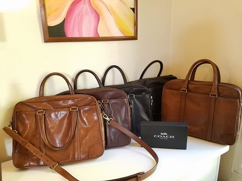 COACH  Bleecker Slim Brief & Commuter Leather Briefcase Review