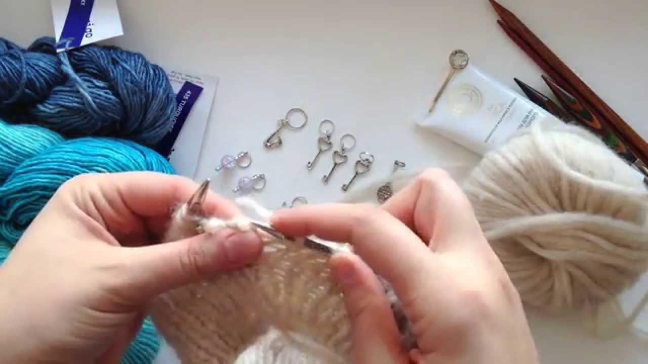 Что такое маркеры в вязании спицами
