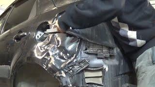 Рихтовка крыла. Кузовной ремонт.(Рихтовка заднего крыла Suzuki sx4 http://vk.com/andreyshadrinsk., 2015-05-15T10:57:11.000Z)