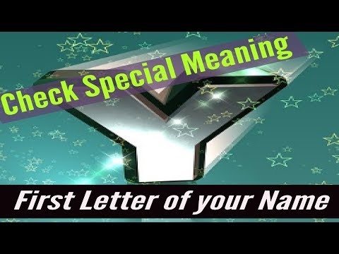 Y/Check Special Meaning Of The  First Letter Of Your Name-MoYoKo