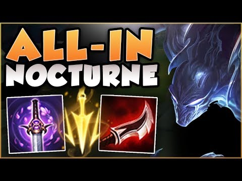 WTF! ALL-IN NOCTURNE 100% HAS TOO MUCH BURST! NOCTURNE SEASON 8 TOP GAMEPLAY! - League of Legends