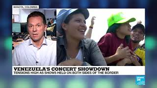 Venezuela's concert showdown: Tensions high as shows held on both sides of border