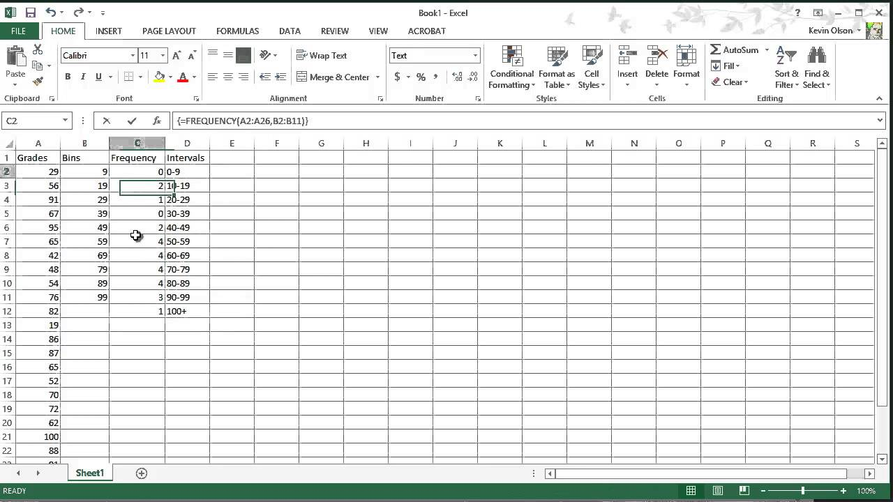 Ediblewildsus  Prepossessing Excel  Frequency Function Amp Creating Histograms  Youtube With Magnificent Excel  Frequency Function Amp Creating Histograms With Extraordinary How To Use Excel Solver Also Change Alignment In Excel In Addition Percentages In Excel And Excel Password As Well As Dashboard Excel Additionally How To Add Cells Together In Excel From Youtubecom With Ediblewildsus  Magnificent Excel  Frequency Function Amp Creating Histograms  Youtube With Extraordinary Excel  Frequency Function Amp Creating Histograms And Prepossessing How To Use Excel Solver Also Change Alignment In Excel In Addition Percentages In Excel From Youtubecom