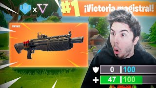 PRIMERA VICTORIA con NUEVA ESCOPETA LEGENDARIA!! Fortnite: Battle Royale