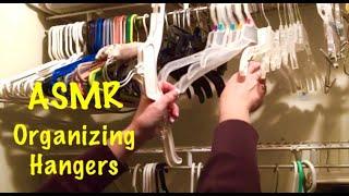 ASMR Organizing closet hangers, sounds to help you sleep. (No talking)
