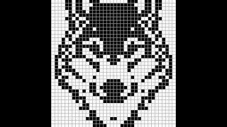 Плетем фенечку Волк прямым плетением