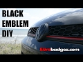 How to Install a Black Front Badge on your MK7 GTI or Golf | EuroBadgez