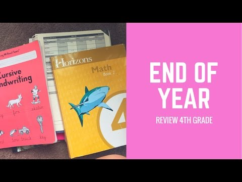 4TH GRADE HOMESCHOOL CURRICULUM END OF YEAR REVIEW