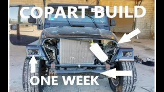 One Week COPART Auction JEEP TJ Build | 2005 X