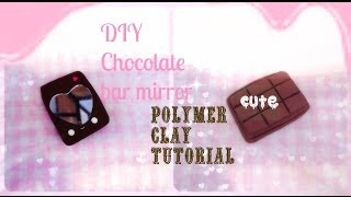Diy Chocolate Bar  Mirror- Polymer Clay Charm