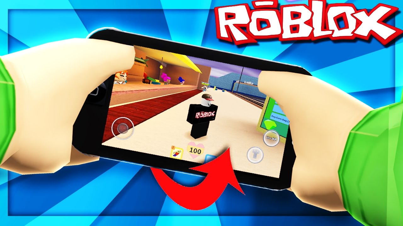 Playing Roblox Pocket Edition Roblox Mobile Edition Youtube