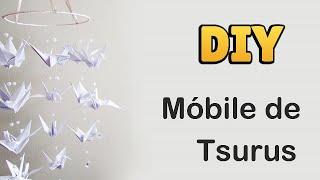 DIY: Como Fazer MÓBILE de TSURUS (ORIGAMI Tutorial) | Ideias Personalizadas - DIY
