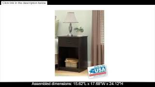 Mainstays Nightstand end Table, Multiple Colors, Features One Drawer. Max Weight Capacity for Top