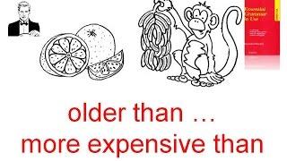 Сравнительная степень прилагательных с разными оттенками 'намного старше чем'