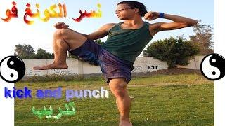 شاهد كيف يتدرب نسر الكونغ فو علي الركلات القتالية Eagle kung fu training