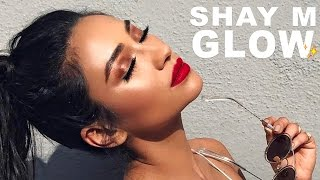 Shay Mitchell Inspired Spring Glow Makeup Tutorial | Bronze Skin & Glossy Lids | Eman