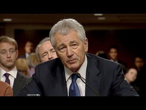 Chuck Hagel Defends His Record Before Former Senate Colleagues