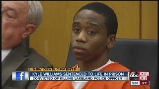 Kyle Williams sentenced to life in prison for officer's murder