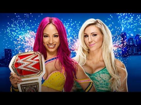 WWE 2K16 Summerslam 2016 simulation Sasha...