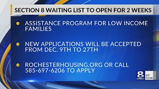 Section 8 waiting list to open for 2 weeks