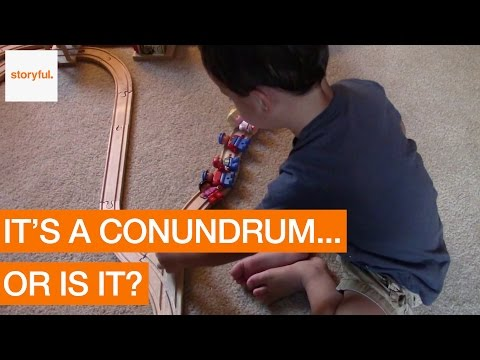 Two-Year-old Has a Surprising Solution for Train Puzzle (Storyful, Kids)