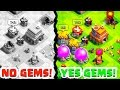 Clash of Clans Town Hall 4-9 14,000 GEMS! Troll Base is BORN! 1080P 60FPS