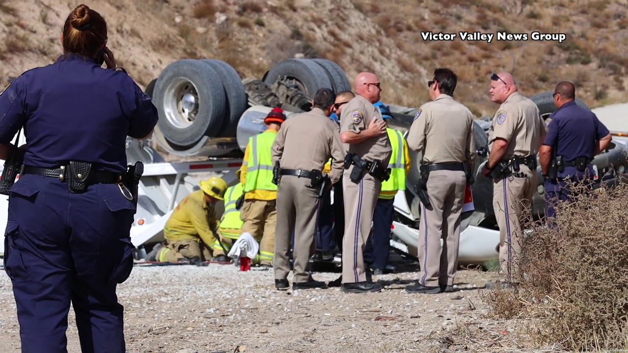 Truck driver killed in crash on 15 Freeway in Cajon Pass