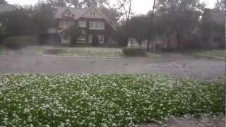 Baseball Size Hail Storm in Dallas, TX 6/13/12