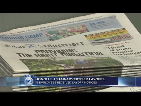 15 Honolulu Star-Advertiser employees receive layoff notices