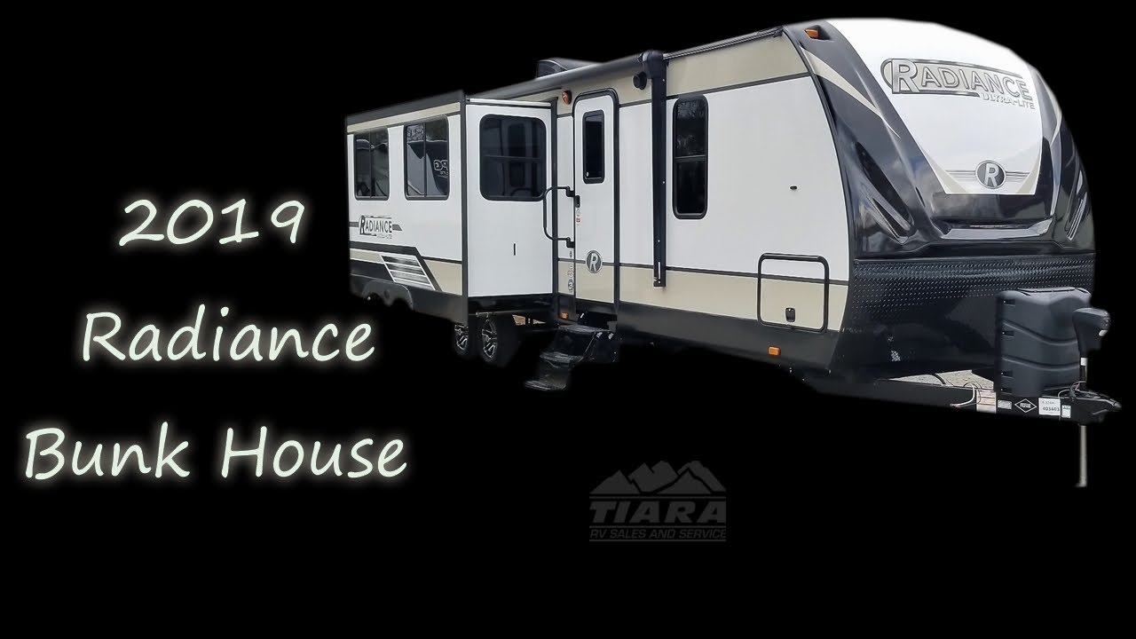 Bath 1\/2 Bunk House Travel Trailer  Cruiser Radiance Rv - YouTube