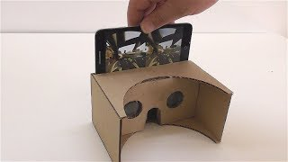 How to make a virtual reality out of cardboard