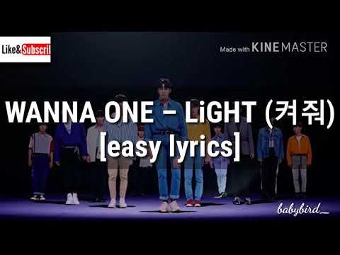 WANNA ONE – LiGHT (켜줘) [easy Lyrics]
