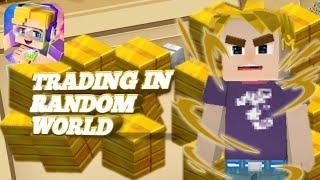 Trading in random world trade in skyblock #2 (Blockman go:blockymods)