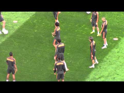 Pepe y Benzema se ejercitan antes de la final | Diario Bernabéu